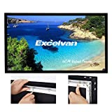 Excelvan Wrinkle-Free Movie Screen 16:9 HD 3D 4K Projector Screen Ultra Ready 1.2 Gain Projection Screen for Home Cinema Presentations with 7 Pieces Velvet Fixed Frame Active Shutter(100 inch)