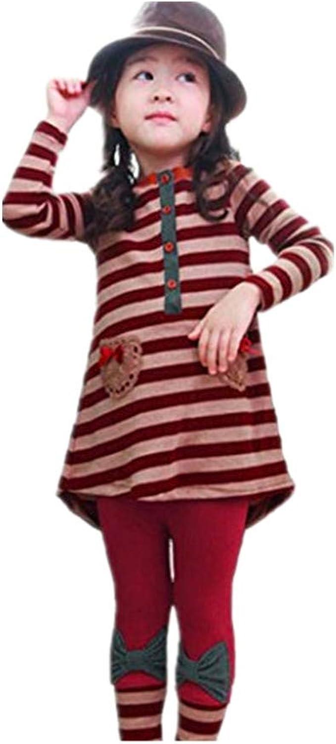 Kind Mädchen Kleidung Sommer Kurzarm T-Shirt Top Lang Hose Legging Outfit Set