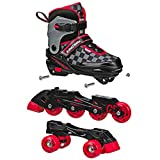 Roller Derby 2N1 Boys Inline and Quad Skate Combo