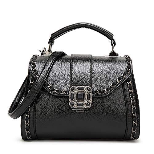 Borsa Da Donna Casual Vintage Girl Shoulder Borse Fashion Ladies Tote Black
