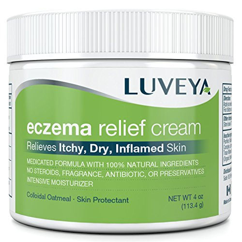 Eczema & Dermatitis Cream for Dry, Itchy, Cracked Skin Relief. Best Moisturizer Lotion for Face, Body & Scalp Rashes. 100% Natural Baby & Adult Remedy. Soothes Irritated Skin Without Greasy Ointment (Ointment Eczema)