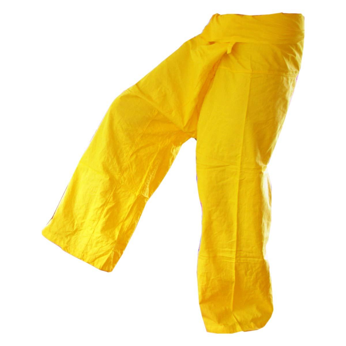 Panasiam, pantalon Thai (Fisherman), coloris jaune, S-L