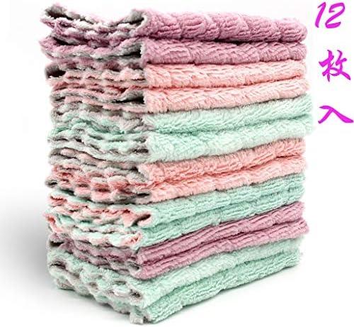 [해외]布巾 걸 레 행 주 걸 레 슈퍼 흡수 성 수건 격 떨어뜨려 크로스 속 건 강력 흡수 성이 강한 통기성 청소 용 크로스 12 장의 【 용 】 / Cloth Rag Fudosuki-Suguin Water-absorbing Towel Heavy Falling Cloth Quick Dry Strong Water Breathable Cl...