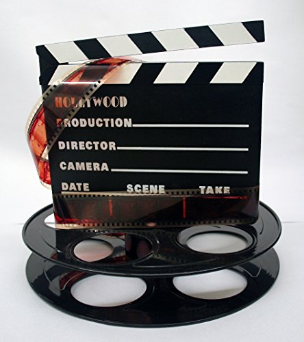 Hollywood Studio Clapboard & Reel Centerpiece - Black (Hollywood Party Centerpieces)