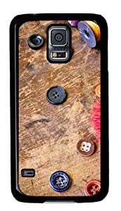 Cool Buttons Custom Samsung Galaxy S5/Samsung S5 Case Cover Polycarbonate Black
