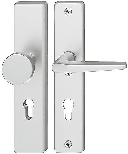 Manilla con placa larga para cerraduras de puerta puerta Haeusler-Shop – h9050 | Mandril