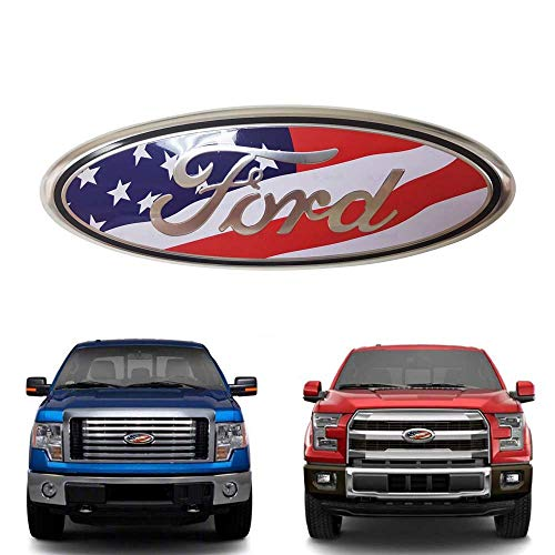 Oval 9X3.5 Red Decal Badge Nameplate for 04-14 F150 F250 F350 11-14 Edge Ruanye For Ford Front Tailgate Emblem 11-16 Explorer 06-11 Ranger Oval 9X3.5