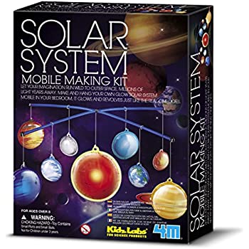 Amazon.com: 3-D Glow-in the-Dark Solar System Mobile Making Kit ...
