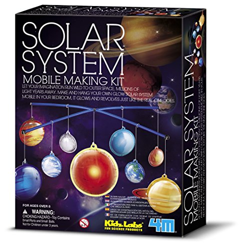 (4M Glow-in-the-Dark Solar System Mobile Making Kit)