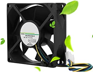 Yoidesu Computer Case Fans,DC 12V Computer Fans,80 mm 4 Pin Dual Ball Bearing Computer CPU Cooling Fans,Ultra Low Noise Cooler Silent Cooler,Support PWM Temperature Control