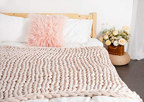 clootess-Weighted-Blanket-Chunky-Knit-Throw-Relax-Cozy-for-Sofa-Bed-Home-Decor-27-lbs-Beige-60x80
