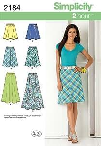 Simplicity 2184 - Patrones de costura de faldas para mujer (tallas 42 a 50)