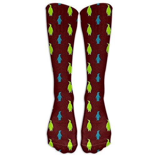 Color Penguin Unisex Classic Crew Winter Socks For Women Compression Socks