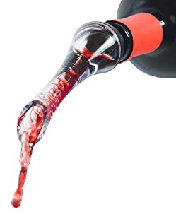 Vinetto Wine Aerator Pourer and Decanter Spout | Easy, Rapid Way To Help Air Filter Into Wine | Unique Gift Idea for Women, Men, and Wine Enthusiasts | Discover Wine's Full Potential