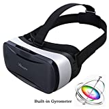 PANNOVO 3D VR Headset Glasses with 9 axle Gyrometer Sensor Virtual Reality Game Goggles for Android Phone 3D 5.0-6.0 Inch adult Movies and 3D Games