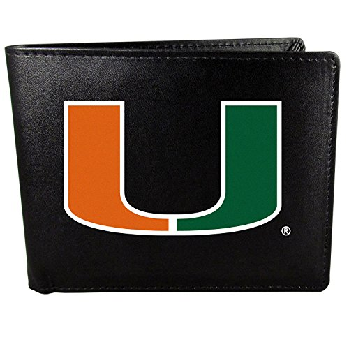 - NCAA Miami Hurricanes Bi-Fold Wallet Large Logo