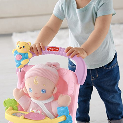 51oP3bsc95L - Fisher-Price Brilliant Basics Stroll-Along Walker