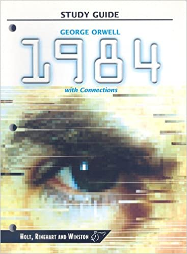 Picture of George Orwell  and cover of Nineteen Eighty Four