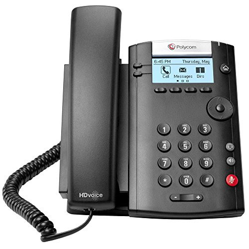 POLYCOM 2200-40450-001 VVX 201 Business Media Phone (PoE) - with Power Supply Polycom 2200-40450-001 by Polycom
