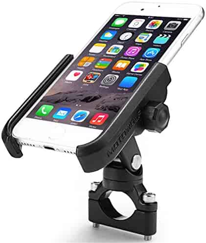 ILM Motorcycle Phone Mount Premium Aluminum Universal Bike Handlebar Holder Fits iPhone X, 7 | 7 Plus, 8 | 8 Plus, iPhone 6s | 6s Plus, Galaxy S7, S6, S5, Holds Phones Up To 3.7