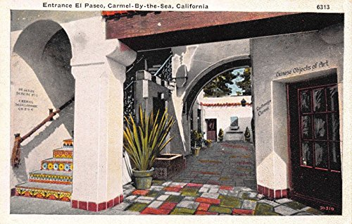 Two Postcards El Paseo in Carmel-By-The-Sea Carmel, - Paseo California