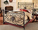 Antique King Size Bed Hillsdale Furniture 1039BKR Mercer Bed Set with with Rails, King, Antique Brown