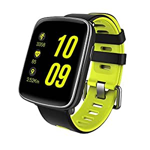 GBB GV68 Waterproof Sport Smart Watch Phone Mate Touch Screen Bluetooth for iOS Android Phone, Green