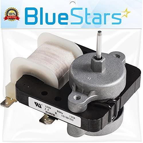[UPGRADED] Ultra Durable W10189703 Refrigerator Evaporator Fan Motor by Blue Stars – Exact Fit for Whirlpool Maytag Kenmore Refrigerators – Replaces WPW10189703 W10208121 2219647