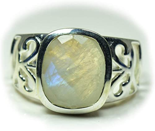 Large Prehnite Ring Single Stone Ring 925 Sterling Silver Ring Handmade Silver Ring Adjustable Silver Ring Natural Prehnite Silver Ring
