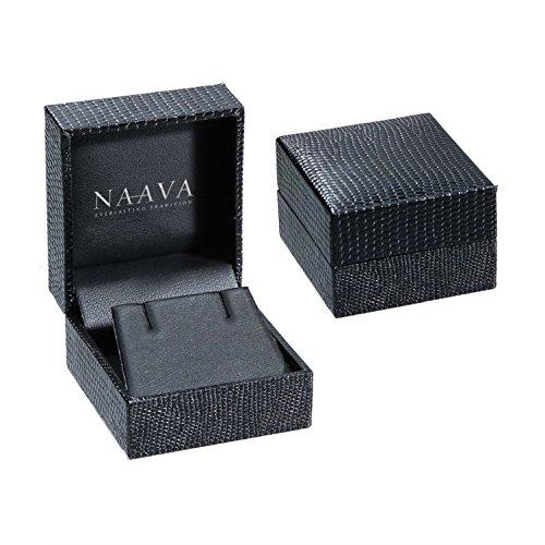 Naava or blanc 9 carats-Diamant 0,15 carat-Boucles d'oreilles Anneau ouvert