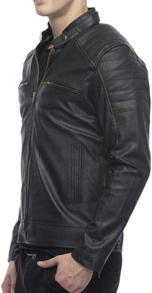 Escelar Mens Faux Leather Jacket EX35