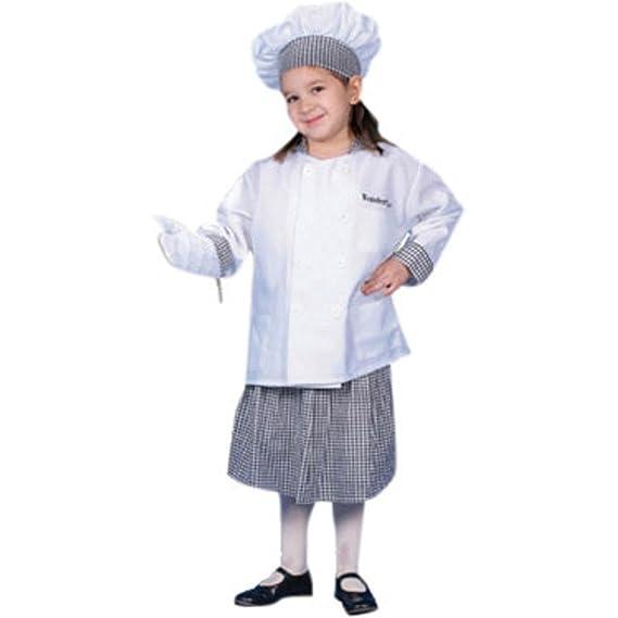 Amazon.com: Kid s bebé Girl disfraz de Chef (Tamaño: 3T ...