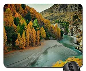 autumn on the river Mouse Pad, Mousepad (Rivers Mouse Pad)