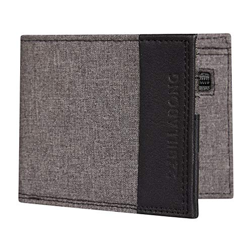 Wallet Womens Billabong - Billabong All Day Faux Leather Wallet in Charcoal Heather