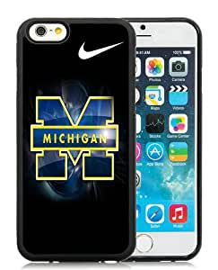 Popular iPhone 6/6S 4.7 inches Michigan Wolverines Black Screen TPU Phone Case Genuine and Cool Design