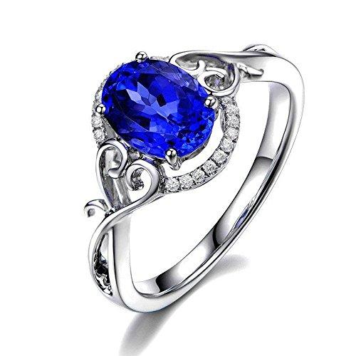 50 1 Di Anello Carati Zaffiro Taglio Ovale Stile Diamante E Antico BtrdCxoshQ