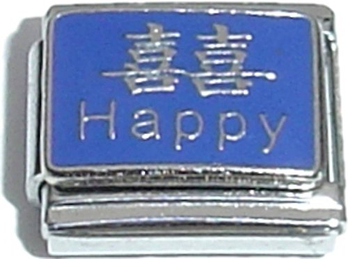 Happy And Chinese Character Italian Charm (Charm Character Chinese Italian)