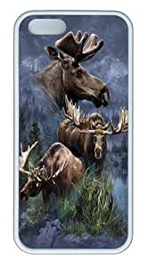 Moose Collage TPU Case Cover for iPhone 5 and iPhone 5s White by icecream design