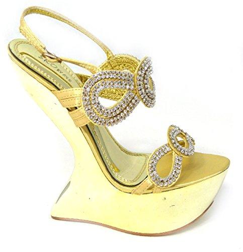 pour femme SKO'S D78 Gold 20 Sandales 51wqcyqR6