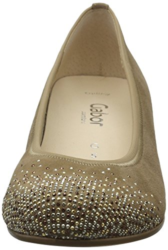 Gabor Damen Comfort-66.154 Pumps Braun (walnut  Strass  43)