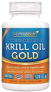 Nutrigold Krill Oil Gold, 500mg, 120 capsules