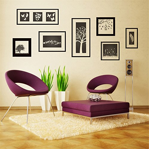 Wall Sticker Wallpapers for Bedroom Living Room ,Home Decal Vinyl Art Decor DIY Decoration (Art picture frames)