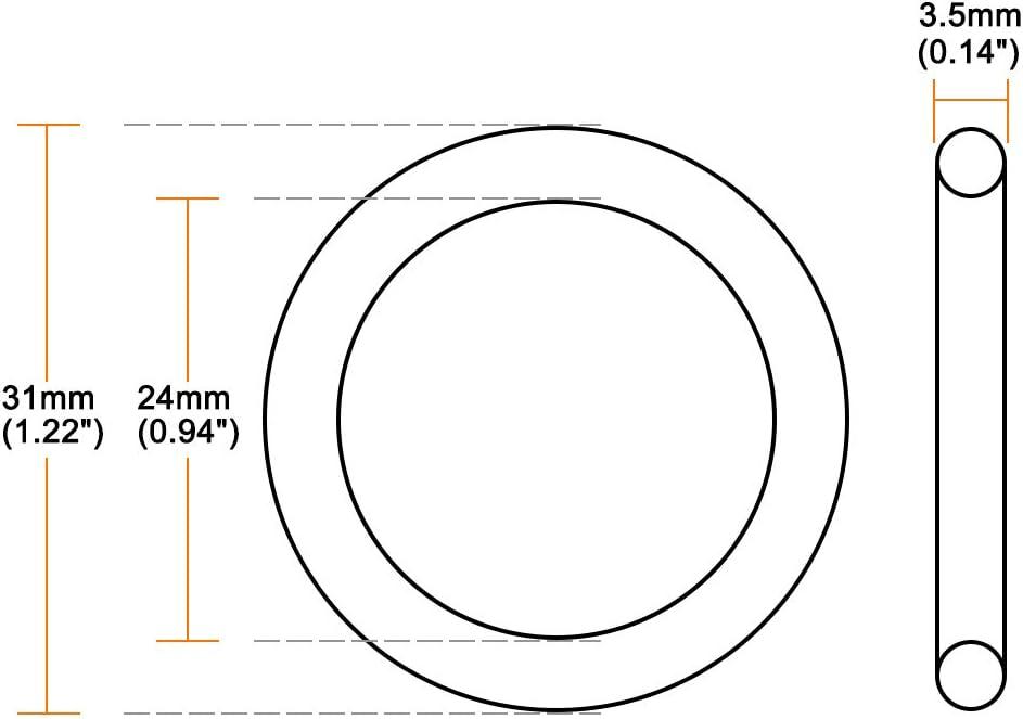 Joint /étanch/éit/é rond ID 38mm OD 45mm large 3,5mm 5pc