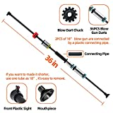 """COSMOING 36"""" .40 Caliber Blowgun with 12"""