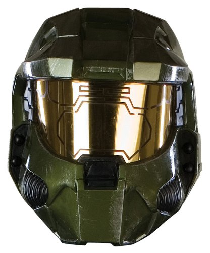 Halo 3 Master Chief Adult Costumes - Halo 3 Deluxe Master Chief Mask with Working Searchlights
