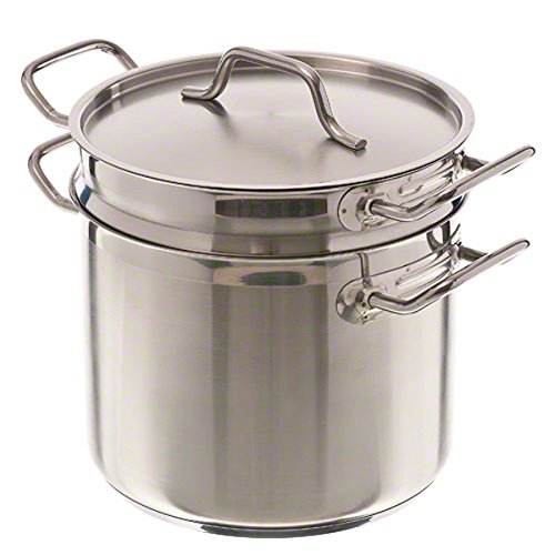Pinch (DBC-8) 8 qt Induction Ready Stainless Steel Double Boiler w/Cover For Sale