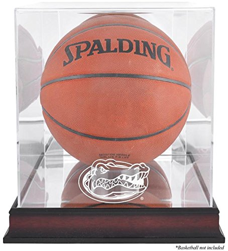 Florida Gators Basketball Display Case | Details: Mahogany Base, Antique Finish, with Mirror Back