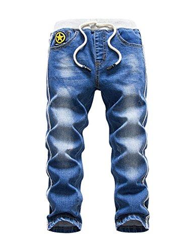 HOLLAGLEE Premium Skinny Boys Jeans Slim Fit Pants for Toddlers Kids and Teens