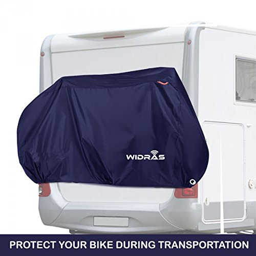 Widras Bicycle and Motorcycle Cover for Outdoor Storage Bike Heavy Duty Rip stop Material, Waterproof & Anti-UV Protection from All Weather Conditions for Mountain & Road Bikes by Widras (Image #3)
