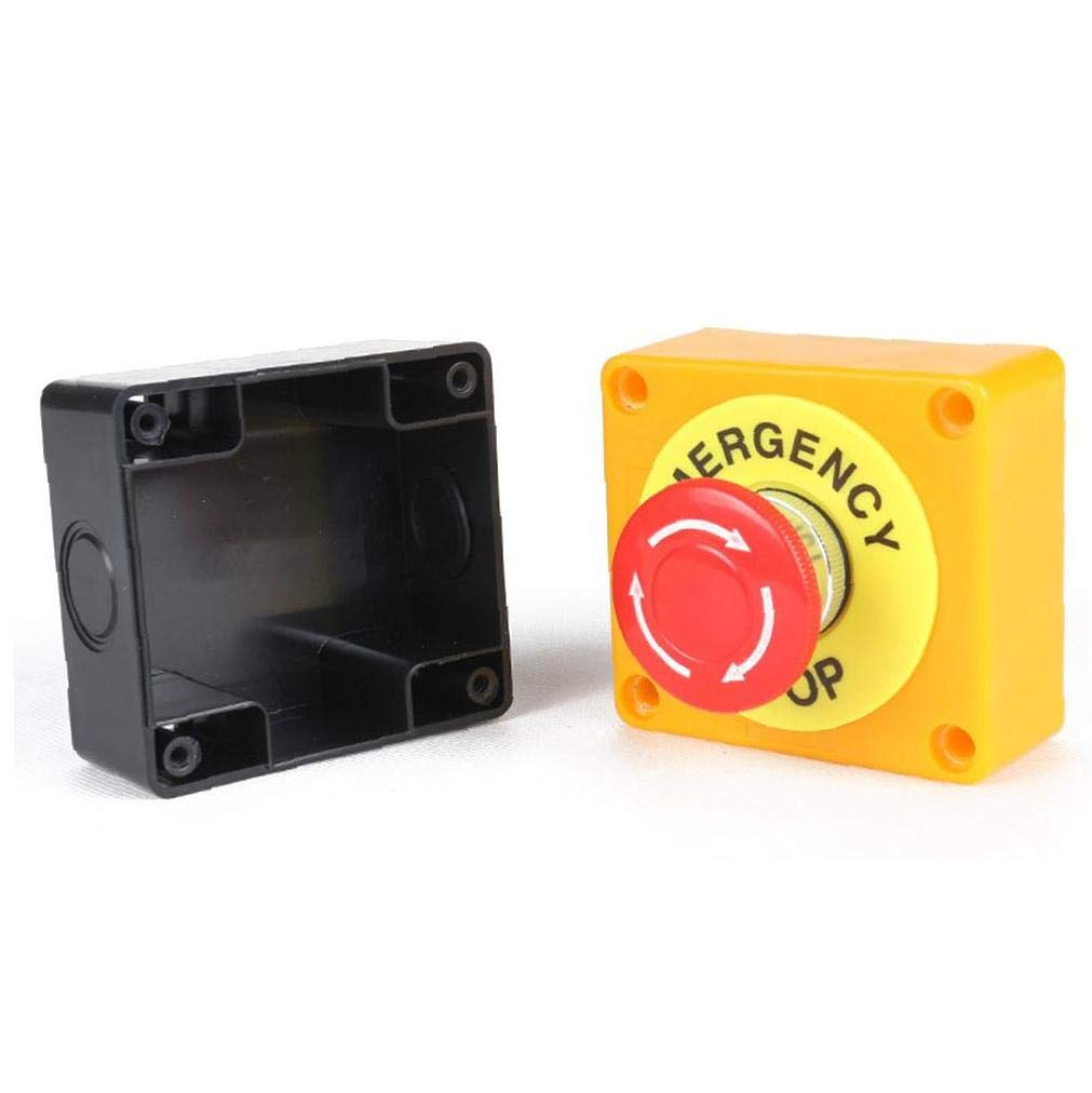 Not-Not-Aus-Taste Aus-Taste Schalter Taste 660V 10A AC Im Roten Hartplastik Fall